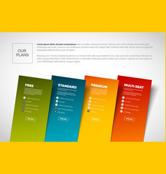 Product service subscription plans template vector