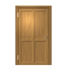 Realistic Wood door vector