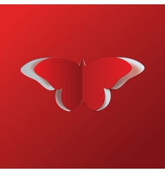 Red paper butterfly vector image