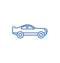 retro racing car line icon concept retro racing vector image