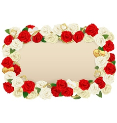 Romantic Flower Board vector image