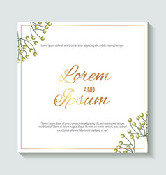 Save the date card vector