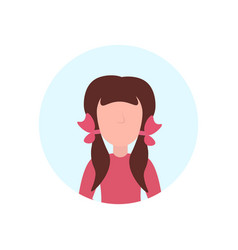 school girl avatar isolated faceless female vector image