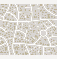 seamless road city map vector image
