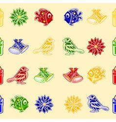 Seamless texture christmas decorations vector