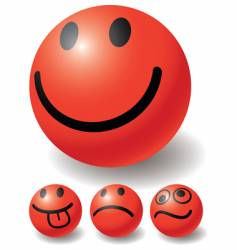 set of four smiles vector image