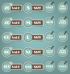 Set of sale labels retro vector image