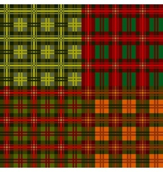 set plaid patterns tartan vector image