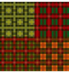 Set plaid patterns tartan vector