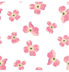 spring autumn flowers seamless pattern vector image