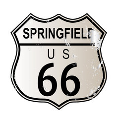 Springfield route 66 vector