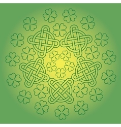 St Patrick s day background with knot ornament and vector