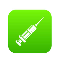 syringe icon simple black style vector image