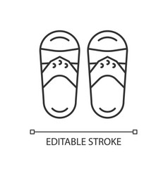 Taiwanese slippers linear icon vector