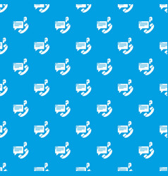 telephone calls pattern seamless blue vector image