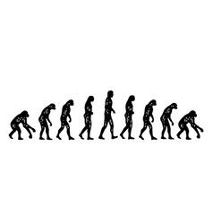 theory evolution man from monkey to man vector image