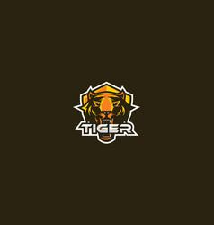 tiger icon logo emblem vector image