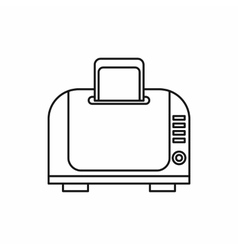 Toaster icon outline style vector image vector image