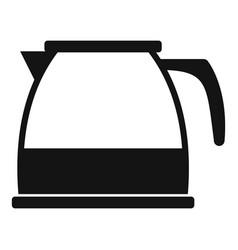 Transparent tea pot icon simple style vector