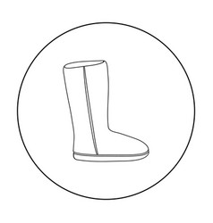 Ugg boots icon in outline style isolated on white vector