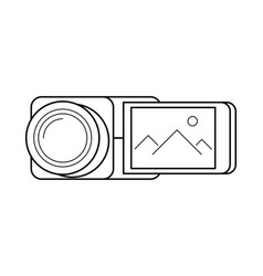 Video camera line art simple gadget icon vector