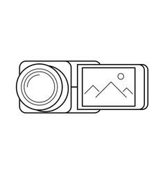 video camera line art simple gadget icon vector image