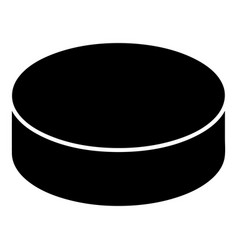washer hockey icon simple black style vector image