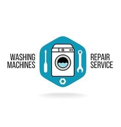 Washing machine logo vector