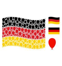 waving german flag collage of celebration balloon vector image