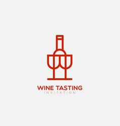 Wine tasting logo vector