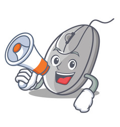 with megaphone mouse character cartoon style vector image