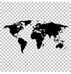 world map black colored silhouette earth vector image