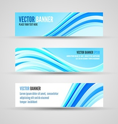 banners blue ocean vector image vector image