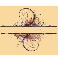 Floral decorative banner vector