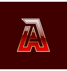 Gold Letter A Shape Logo Element vector image vector image