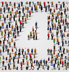 large group of people in number 4 four form vector image vector image