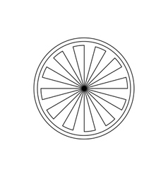 Orange Slice icon outline style vector image
