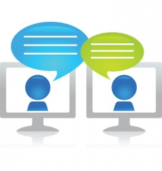 blogging figures vector image