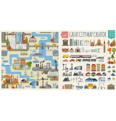 City Map and Infrastructure vector image vector image