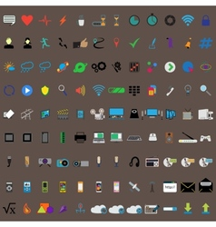 Communication icons Web icons set vector image