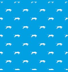 bull pattern seamless blue vector image