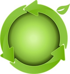 green ball vector image vector image