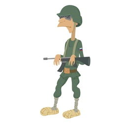 Cartoon of Russian soldiers vector image