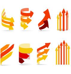 Color arrows set vector image vector image