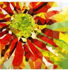 low poly summer background vector image vector image