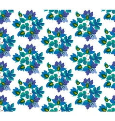 seamless pattern of fairytale blue flowers vector image vector image