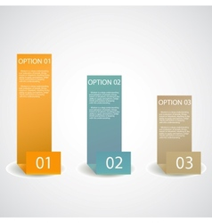 set of infographic options banner vector image vector image