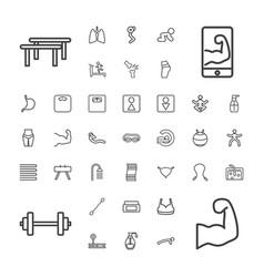 37 body icons vector