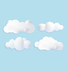 3d render of clouds vector