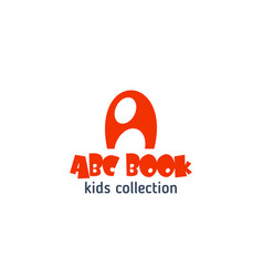 abc book kid design letter a icon vector image
